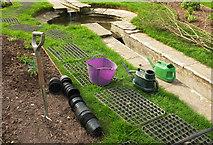SX9050 : Work in the rill garden, Coleton Fishacre by Derek Harper