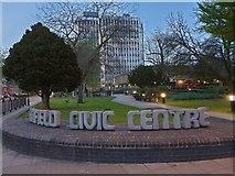 TQ3296 : Enfield Civic Centre by Christine Matthews