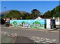 SO3013 : Mural opposite Abergavenny bus station by Jaggery