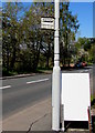 SO1422 : Welsh/English bus stop sign in Bwlch, Powys by Jaggery