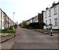 ST2687 : Chain across Tredegar Street, Rhiwderin by Jaggery