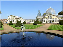 TQ1776 : Mercury statue & fountain, Syon Park by Andrew Curtis