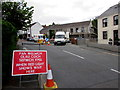 SN7909 : When red light shows wait here, Station Road, Ystradgynlais by Jaggery