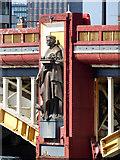 TQ3078 : Statue on Vauxhall Bridge by Robin Webster