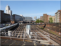 TQ2878 : Approaches to Victoria Station by Robin Webster
