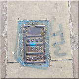 TQ3370 : Cast iron stop valve cover, Westow Hill, Upper Norwood, south London by Robin Stott