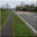 SN9925 : Pavement along the west side of the A470, Libanus, Powys by Jaggery