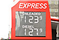 J3373 : Fuel prices sign, Belfast (28 April 2019) by Albert Bridge