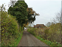 TQ2057 : Track towards Langley Bottom Farm by Robin Webster