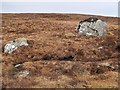 NN3958 : Moorland boulders on Meall Liath na Doire by wrobison