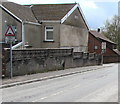 ST1499 : Warning sign - humps ahead, Park Crescent, Bargoed by Jaggery