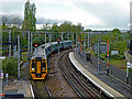 SO9198 : Wolverhampton ... the train arriving at platform 3 by Roger  Kidd