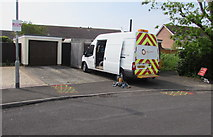 ST3049 : Wales & West Utilities van, Westfield Drive, Burnham-on-Sea by Jaggery