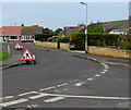 ST3049 : Temporary road signs at the southern end of Westfield Drive, Burnham-on-Sea by Jaggery