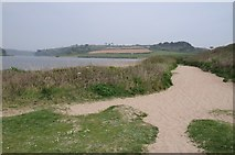 SW6424 : Sandy path beside Loe Pool by Philip Halling