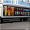 ST3088 : Colourful side of a Wetherspoon lorry, Bridge Street, Newport by Jaggery