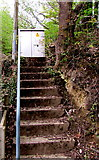 ST1599 : Steps up to an electricity cabinet, Angel Way, Gilfach by Jaggery