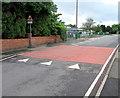 SO3204 : School Lane speed bump, Penperlleni by Jaggery