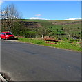 SO1305 : Roadside bench with a view of Abertysswg by Jaggery