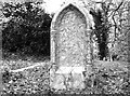 TG2408 : Gravestone recently cleared of ivy vines by Evelyn Simak
