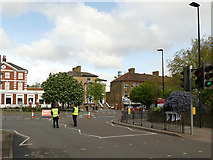 TQ4077 : Barriers on Old Dover Road by Stephen Craven