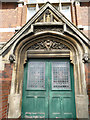 TA0830 : Entrance to the library on Beverley Road, Hull by Stephen Craven