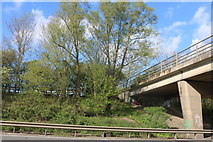 SP8039 : Footbridge over the A5, Milton Keynes by David Howard
