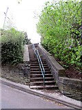 ST1599 : Steps up from the north side of Angel Lane, Gilfach by Jaggery