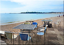 SY6879 : Outside a Cafe, Weymouth Beach by Des Blenkinsopp