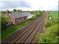 NY2466 : Eastriggs railway station (site), Dumfries & Galloway by Nigel Thompson
