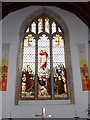 TM4978 : Stained Glass Window at St.Margarets Church by Adrian Cable