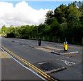 SO1206 : Pedestrian refuge near Abertysswg by Jaggery