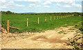 SS5821 : Fence near Greater Knowle Farm by Derek Harper