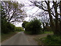 TM4978 : Rissemere Lane East & footpath by Adrian Cable