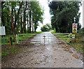 TL9096 : Locked entrance gate to STANTA by David Pashley