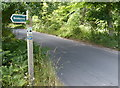 TM4769 : Suffolk Coast Path crossing Minsmere Road by Mat Fascione