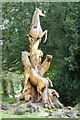 SO7919 : Horses tree sculpture by Philip Halling