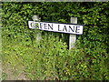 TM4978 : Green Lane sign by Adrian Cable