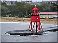 NZ3668 : Herd Groyne Lighthouse by David Dixon