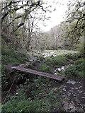 SK1273 : Chee Dale: a railway-sleeper footbridge by Chris Downer