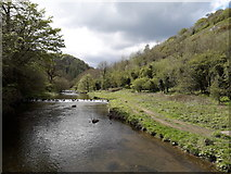 SK1273 : Chee Dale: an upstream view along the Wye by Chris Downer