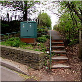 ST1599 : Steps up from Angel Lane, Gilfach by Jaggery