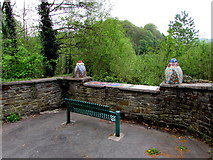 ST1599 : Green bench, Angel Lane, Gilfach by Jaggery