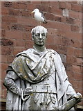 NY4055 : Statue outside Carlisle citadel by Rudi Winter