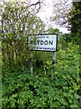 TM4778 : Reydon Village Name sign on the B1126 Wangford Road by Adrian Cable