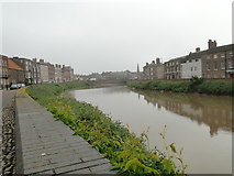 TF4509 : River Nene, towards the town centre from North Brink by Adrian S Pye