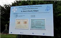 ST3090 : Information board, St Mary's Church, Malpas, Newport by Jaggery