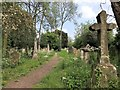 TF4510 : Footpath through The General Cemetery, Wisbech by Richard Humphrey
