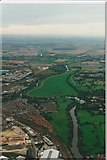 SE5853 : River Ouse and Clifon Ings from a hot-air balloon by Michael Cooper