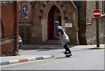 C4316 : Guy on a motorised skateboard, Derry / Londonderry by Kenneth  Allen
